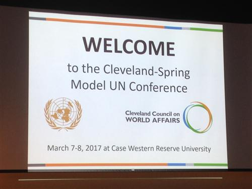 Model UN Conference Sign